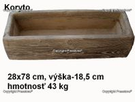 Koryto 78x28x18,5 cm