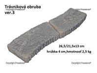 Trávniková obruba 3-26,5x21,5x13 cm/4cm